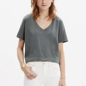 Madewell loose fitting crop top